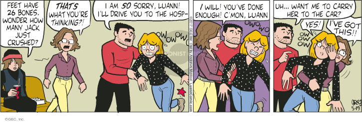 Cartoonist Greg Evans  Luann 2017-05-19 broke