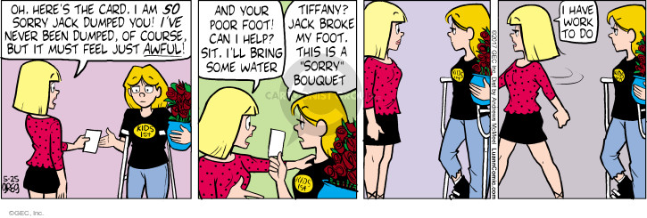 Comic Strip Greg Evans  Luann 2017-05-25 flower bouquet