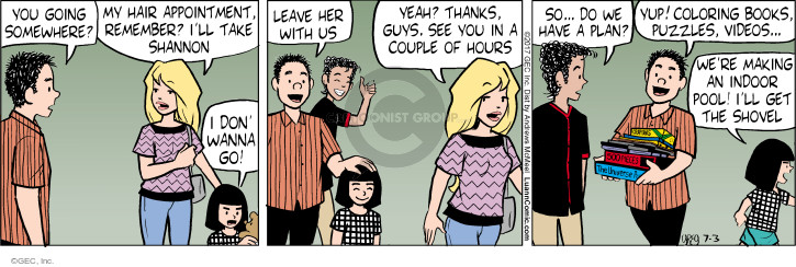 Comic Strip Greg Evans  Luann 2017-07-03 babysitter