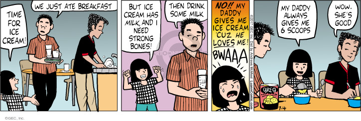 Comic Strip Greg Evans  Luann 2017-07-04 food