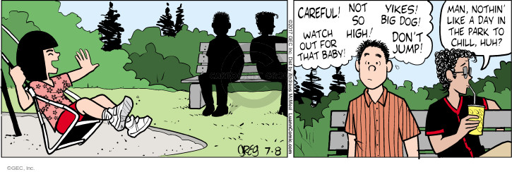 Comic Strip Greg Evans  Luann 2017-07-08 jump
