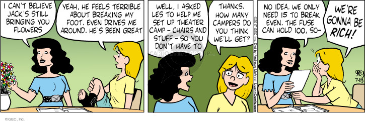 Comic Strip Greg Evans  Luann 2017-07-18 camp
