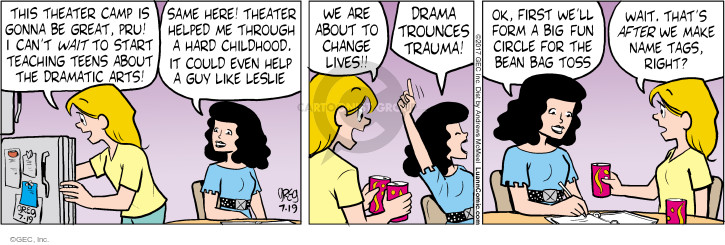 Comic Strip Greg Evans  Luann 2017-07-19 start