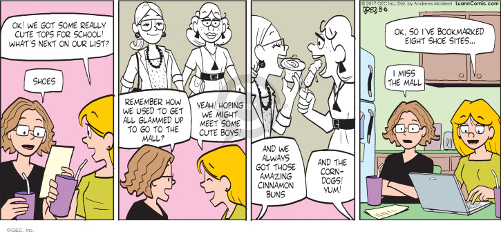 Comic Strip Greg Evans  Luann 2017-08-06 shop