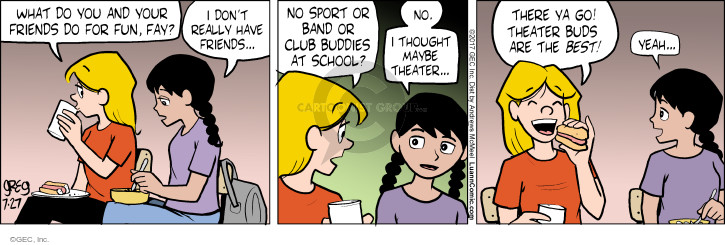 Comic Strip Greg Evans  Luann 2017-07-27 school sports