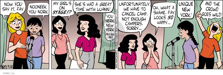 Comic Strip Greg Evans  Luann 2017-07-28 York