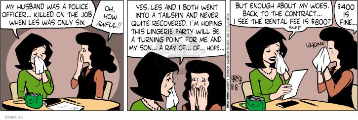 Comic Strip Greg Evans  Luann 2017-08-08 pity