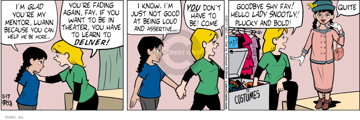Comic Strip Greg Evans  Luann 2017-08-17 acting