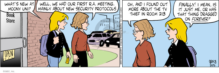 Comic Strip Greg Evans  Luann 2017-08-25 college