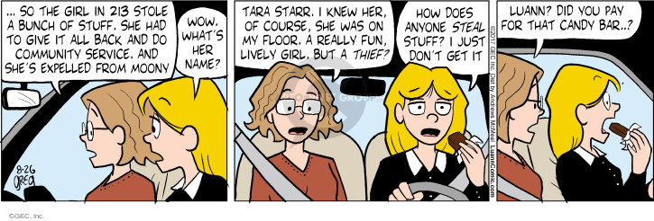 Comic Strip Greg Evans  Luann 2017-08-26 wow