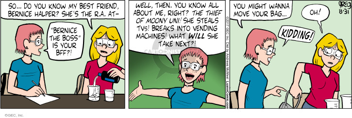 Comic Strip Greg Evans  Luann 2017-08-31 stolen