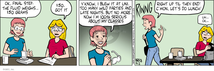 Comic Strip Greg Evans  Luann 2017-09-02 college