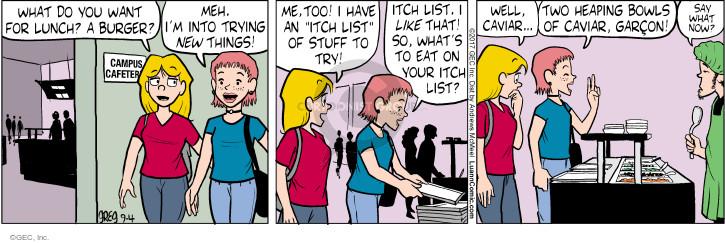 Comic Strip Greg Evans  Luann 2017-09-04 into