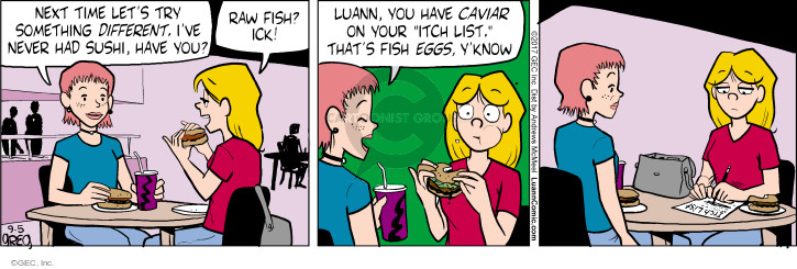 Cartoonist Greg Evans  Luann 2017-09-05 food