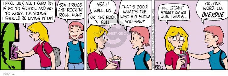 Comic Strip Greg Evans  Luann 2017-09-07 work