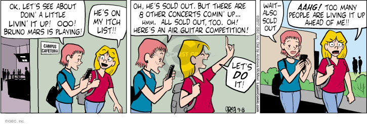 Comic Strip Greg Evans  Luann 2017-09-08 activity