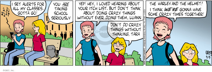 Comic Strip Greg Evans  Luann 2017-09-09 crazy