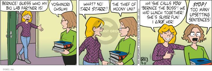 Comic Strip Greg Evans  Luann 2017-09-11 call