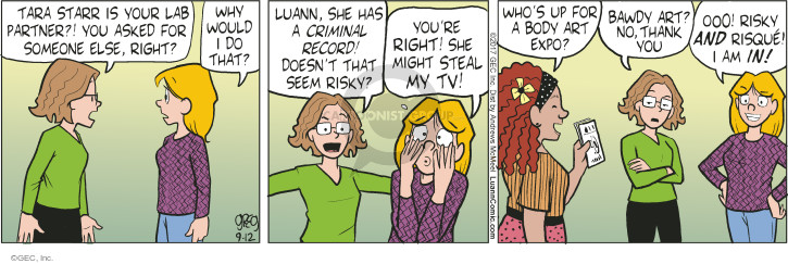 Comic Strip Greg Evans  Luann 2017-09-12 thank you