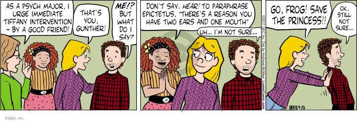 Comic Strip Greg Evans  Luann 2017-09-28 hearing