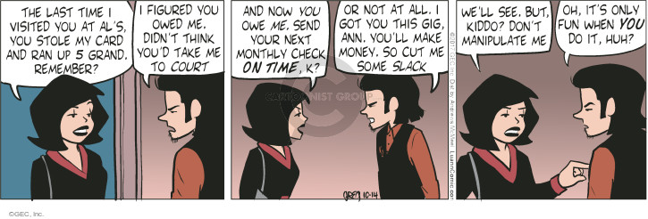 Comic Strip Greg Evans  Luann 2017-10-14 remember
