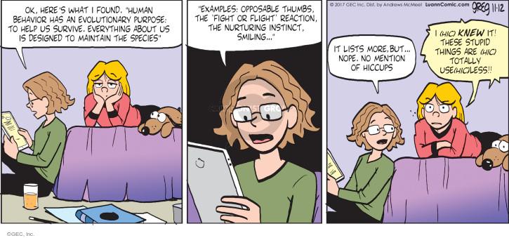 Comic Strip Greg Evans  Luann 2017-11-12 thing
