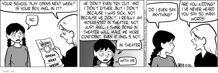 Comic Strip Greg Evans  Luann 2017-10-25 boy