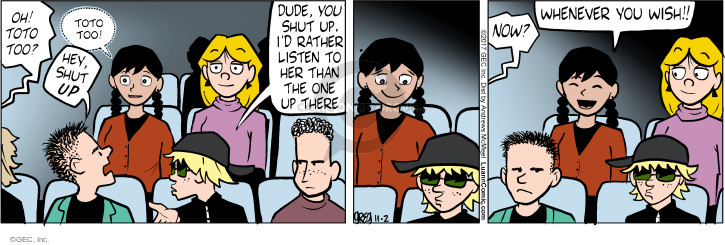 Comic Strip Greg Evans  Luann 2017-11-02 acting