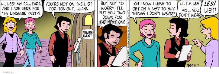 Comic Strip Greg Evans  Luann 2017-11-17 tonight