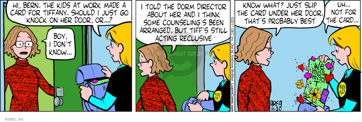 Comic Strip Greg Evans  Luann 2017-11-20 work