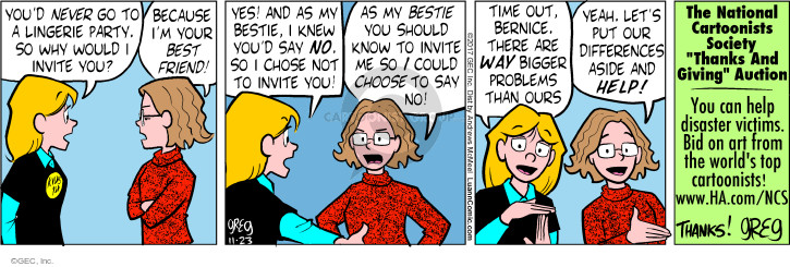 Comic Strip Greg Evans  Luann 2017-11-23 activity