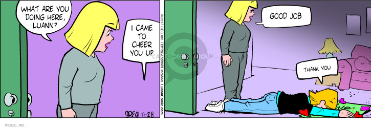 Comic Strip Greg Evans  Luann 2017-11-28 thank you