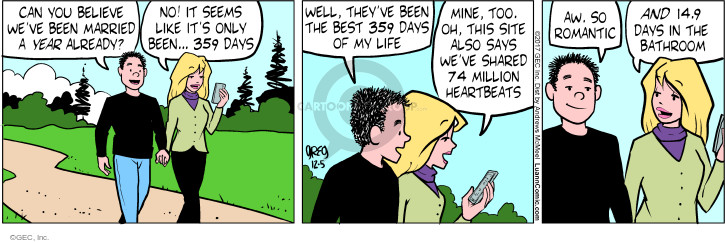 Comic Strip Greg Evans  Luann 2017-12-05 romantic