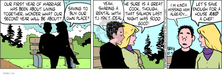 Comic Strip Greg Evans  Luann 2017-12-07 first husband