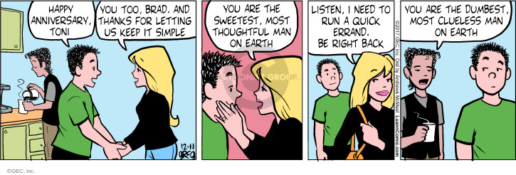 Comic Strip Greg Evans  Luann 2017-12-11 husband and wife