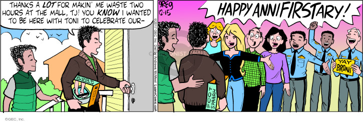 Comic Strip Greg Evans  Luann 2017-12-15 Toni