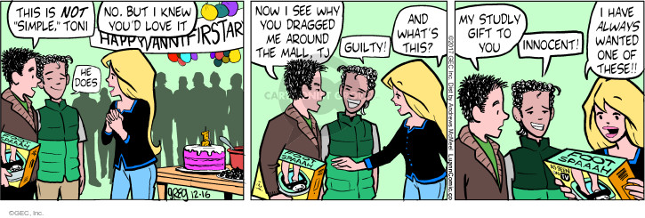 Comic Strip Greg Evans  Luann 2017-12-16 Toni