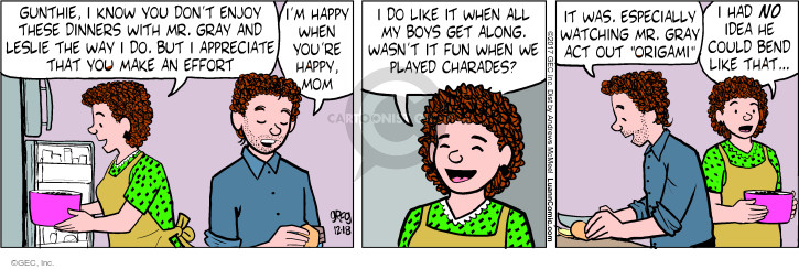 Comic Strip Greg Evans  Luann 2017-12-18 boy