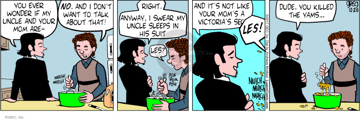 Comic Strip Greg Evans  Luann 2017-12-20 talk