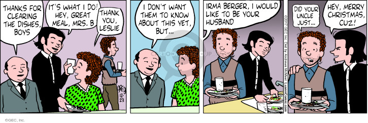 Comic Strip Greg Evans  Luann 2017-12-23 thank you