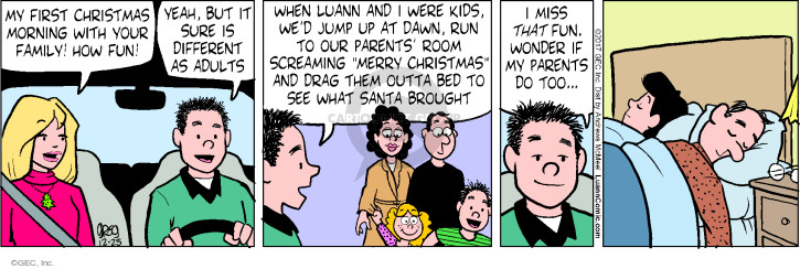 Comic Strip Greg Evans  Luann 2017-12-25 holiday tradition