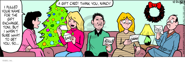 Comic Strip Greg Evans  Luann 2017-12-26 Christmas gift