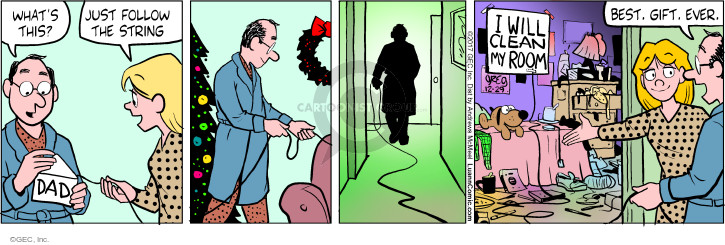 Comic Strip Greg Evans  Luann 2017-12-29 gift