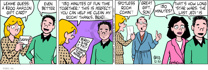 Comic Strip Greg Evans  Luann 2017-12-30 gift
