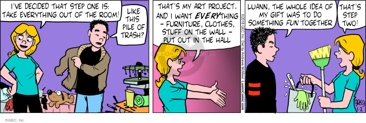 Comic Strip Greg Evans  Luann 2018-01-02 gift