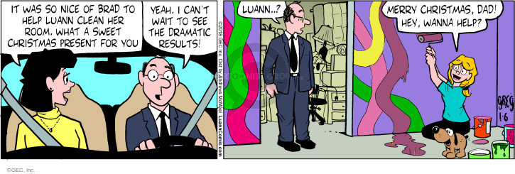 Comic Strip Greg Evans  Luann 2018-01-06 wanna