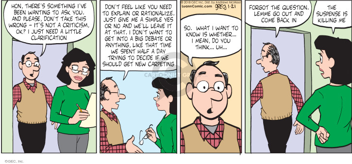 Comic Strip Greg Evans  Luann 2018-01-21 spouse
