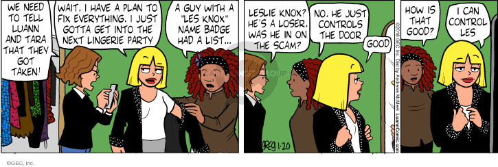 Comic Strip Greg Evans  Luann 2018-01-20 everything