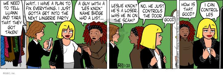 Comic Strip Greg Evans  Luann 2018-01-20 good guy