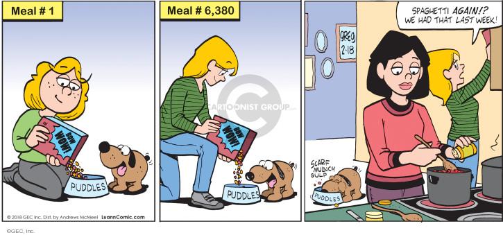Comic Strip Greg Evans  Luann 2018-02-18 meal